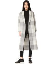 Manteau écossais gris