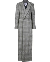 Manteau écossais gris Rosie Assoulin