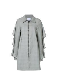 Manteau écossais gris Strateas Carlucci