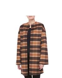 Manteau écossais marron clair