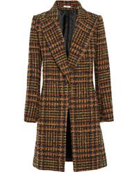 Manteau écossais marron