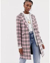 Manteau écossais rose