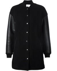 Manteau en cuir noir Alexander Wang