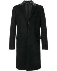 Manteau en cuir noir Givenchy