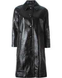 Manteau en cuir noir Marc Jacobs
