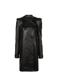 Manteau en cuir noir Unravel Project
