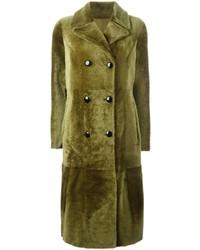 Manteau en cuir olive