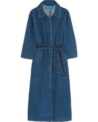 Manteau en denim bleu marine