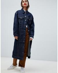 Manteau en denim bleu marine Levi's