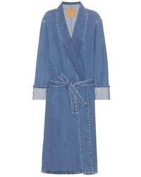 Manteau en denim bleu
