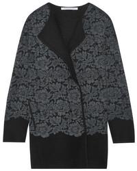 Manteau en dentelle gris foncé Diane von Furstenberg