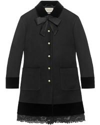 Manteau en dentelle noir Gucci