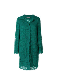 Manteau en dentelle vert Dolce & Gabbana
