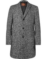 Manteau en laine à chevrons gris foncé Tod's