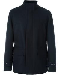 Manteau en laine bleu marine Canali