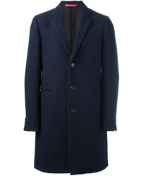 Manteau en laine bleu marine Paul Smith