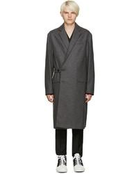 Manteau en laine gris foncé Marni