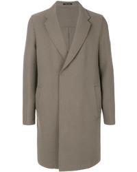 Manteau en laine gris Emporio Armani