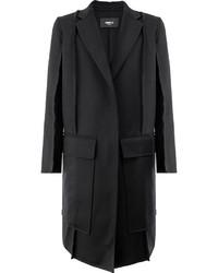 Manteau en laine noir Yang Li