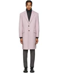 Manteau en laine rose Versace