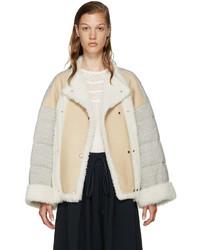 Manteau en peau de mouton retournée beige Chloé