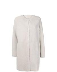 Manteau en peau de mouton retournée blanc Yves Salomon