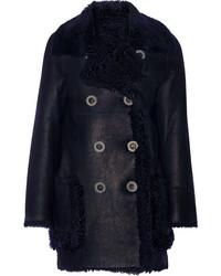 Manteau en peau de mouton retournée bleu marine Karl Donoghue