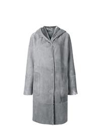 Manteau en peau de mouton retournée gris Manzoni 24