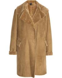 Manteau en peau de mouton retournée marron clair Agnona
