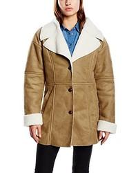 Manteau en peau de mouton retournée marron clair Blend
