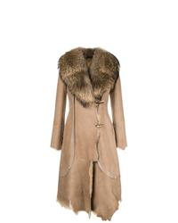 Manteau en peau de mouton retournée marron clair Desa 1972