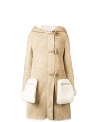 Manteau en peau de mouton retournée marron clair Golden Goose Deluxe Brand