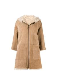 Manteau en peau de mouton retournée marron clair MiH Jeans