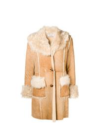 Manteau en peau de mouton retournée marron clair P.A.R.O.S.H.