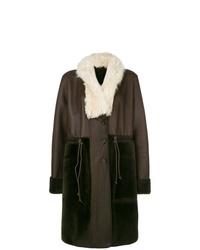 Manteau en peau de mouton retournée marron foncé Chloé