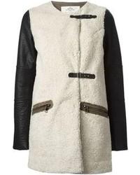 Manteau en peau de mouton retournée noir et blanc Urban Code