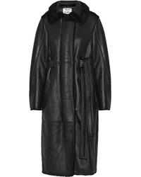 Manteau en peau de mouton retournée noir Acne Studios