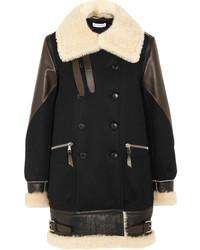 Manteau en peau de mouton retournée noir Altuzarra