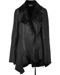 Manteau en peau de mouton retournée noir Ann Demeulemeester