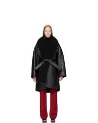 Manteau en peau de mouton retournée noir Balenciaga