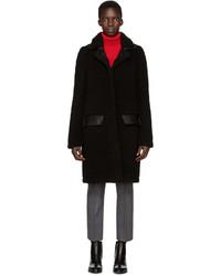 Manteau en peau de mouton retournée noir Carven
