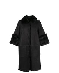 Manteau en peau de mouton retournée noir Desa 1972