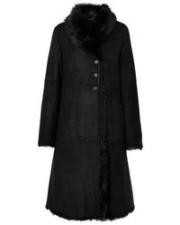 Manteau en peau de mouton retournée noir Joseph