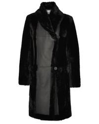 Manteau en peau de mouton retournée noir Max Mara