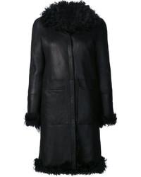 Manteau en peau de mouton retournée noir Proenza Schouler