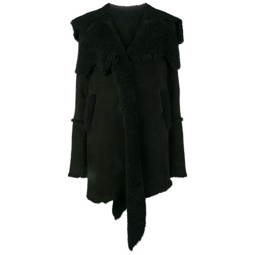 Manteau en peau de mouton retournée noir Sylvie Schimmel
