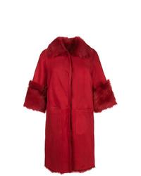 Manteau en peau de mouton retournée rouge Desa 1972