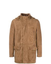 Manteau en peau de mouton retournée tabac