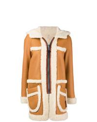 Manteau en peau de mouton retournée tabac Coach