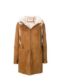 Manteau en peau de mouton retournée tabac Saint Laurent